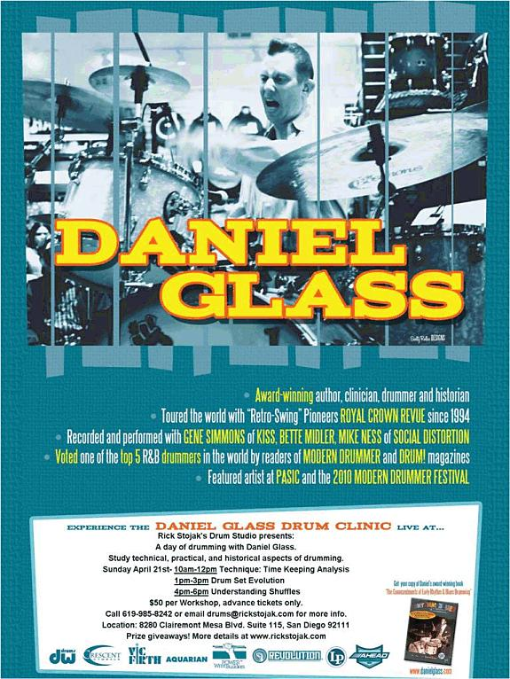 Drum Clinic And Workshops Featuring Daniel Glass