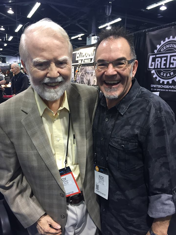 Rick Stojak with friend and mentor, Roy Burns